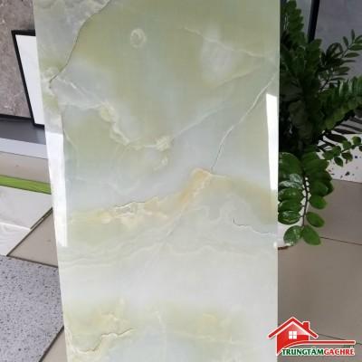 Gạch cao cấp 60x120 vân đá ngọc thạch xanh khắc kim bóng kiếng 12