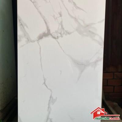 Gạch ốp lát bóng kiếng 600x1200 trắng vân mây trung quốc giá rẻ