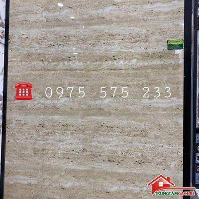 Gạch 60x120 ốp lát sọc đũa vân sóng sọc ngang màu kem bóng kiếng