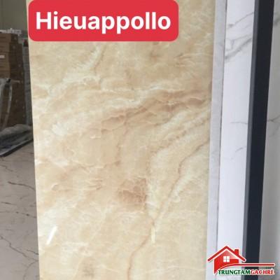 Gạch bóng kiếng 90x180 vân đá lát nền phòng khách đẹp cao cấp