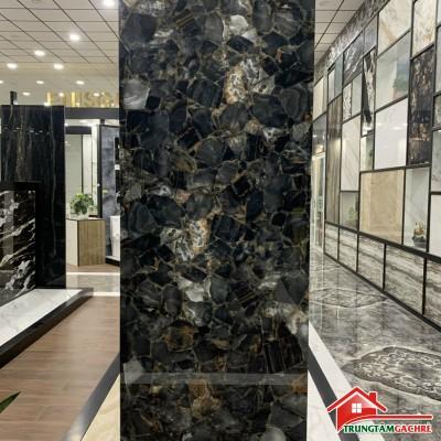 Gạch khổ lớn 80x240 ấn độ vân đá đen siêu bóng chất lượng mới nhất tphcm
