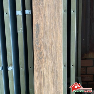 Gạch lát nền giả gỗ nâu xám 15x80 nhập khẩu cao cấp giá rẻ