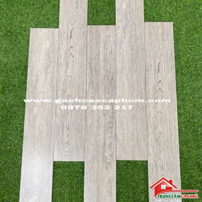 Gạch giả gỗ 15x90 xám trắng nhập khẩu cao cấp giá rẻ