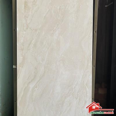 Gạch bóng kiếng 60x120 vân kem ốp lát phòng khách đẹp