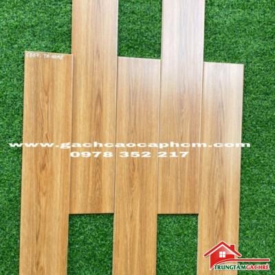 Gạch lát nền giả gỗ vân vàng 15x80 nhập khẩu trung quốc