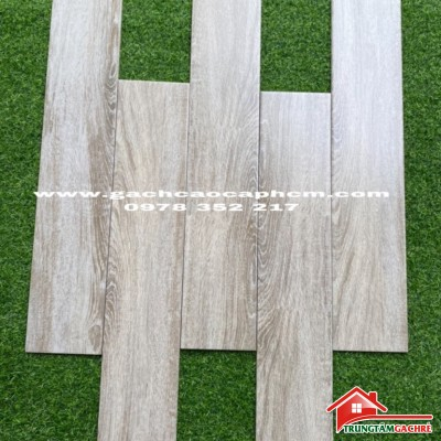 Gạch lát sàn giả gỗ 15x80 vân xám chống trơn nhập khẩu