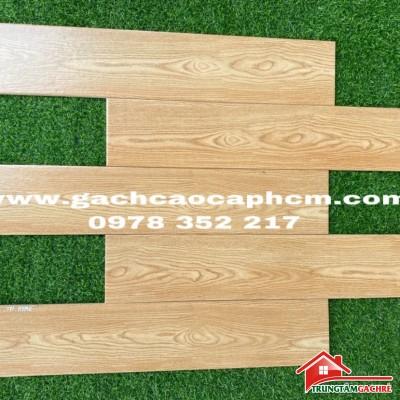 Gạch giả gỗ 15x80 lát nền vân vàng sang trọng