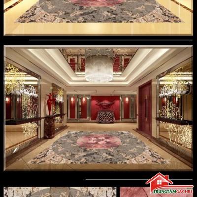 Gạchthảm 5D lát nềnphòng khách đẹp39AH
