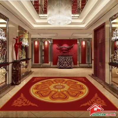Gạchthảm trang trí 5D lát nềnphòng khách đẹp 40AH