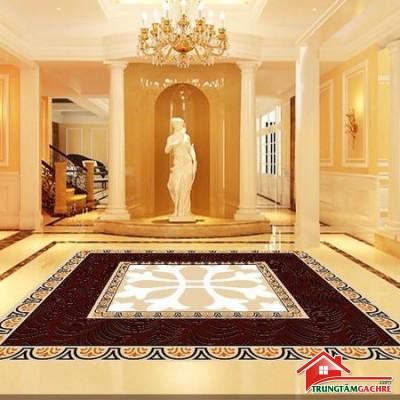Gạchthảm trang trí 5D lát nềnphòng khách đẹp 42AH