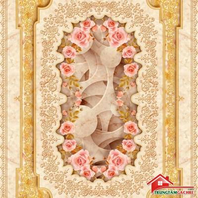 Gạch thảm tiền sảnh trang trí 5D đẹp 74AH